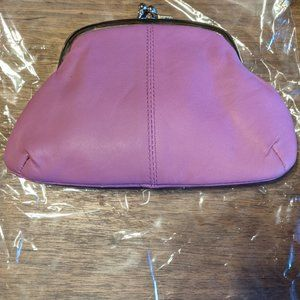 NEW Leather Coin Purse, Vintage Style Twist Clasp